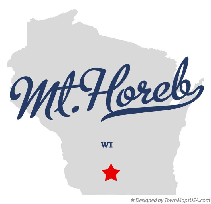Map of Mt.Horeb Wisconsin WI