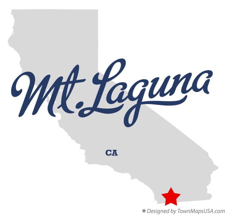 Map of Mt.Laguna California CA