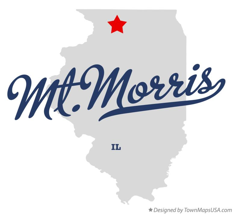 Map of Mt.Morris Illinois IL