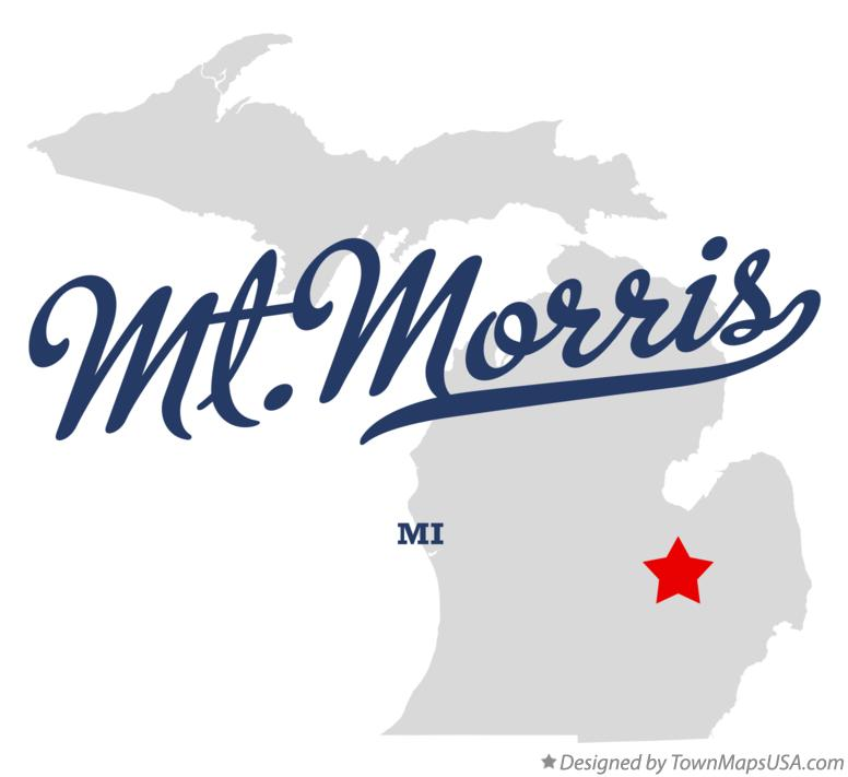 Map of Mt.Morris Michigan MI