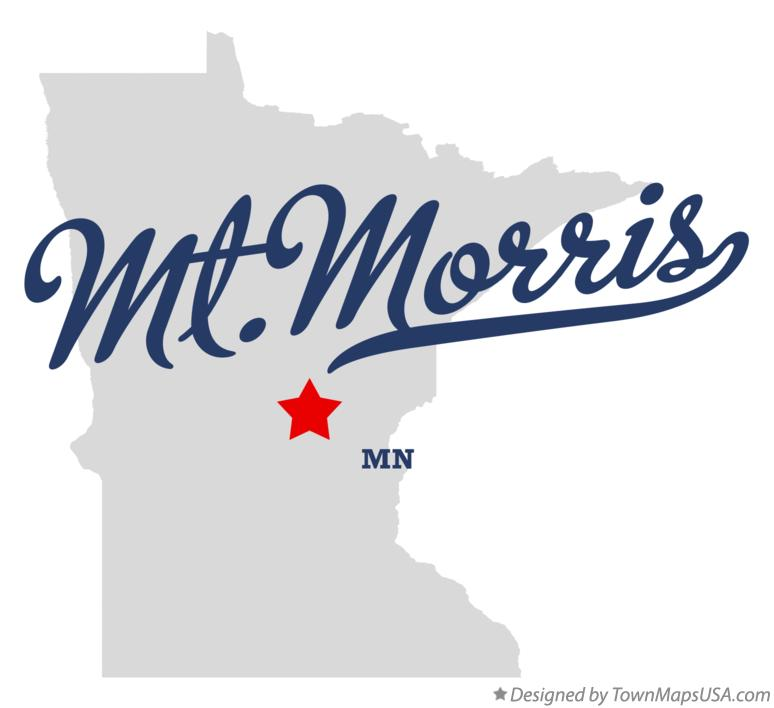 Map of Mt.Morris Minnesota MN