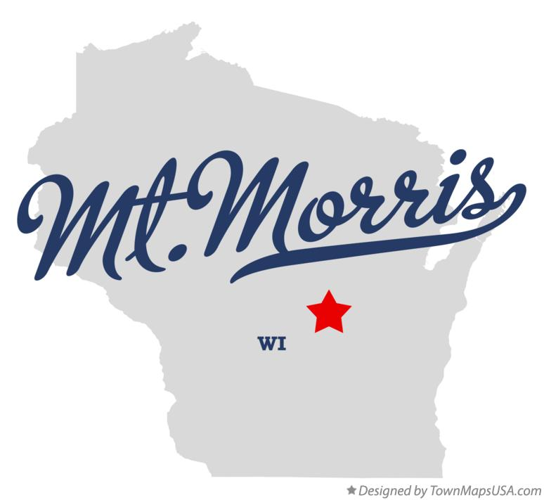 Map of Mt.Morris Wisconsin WI