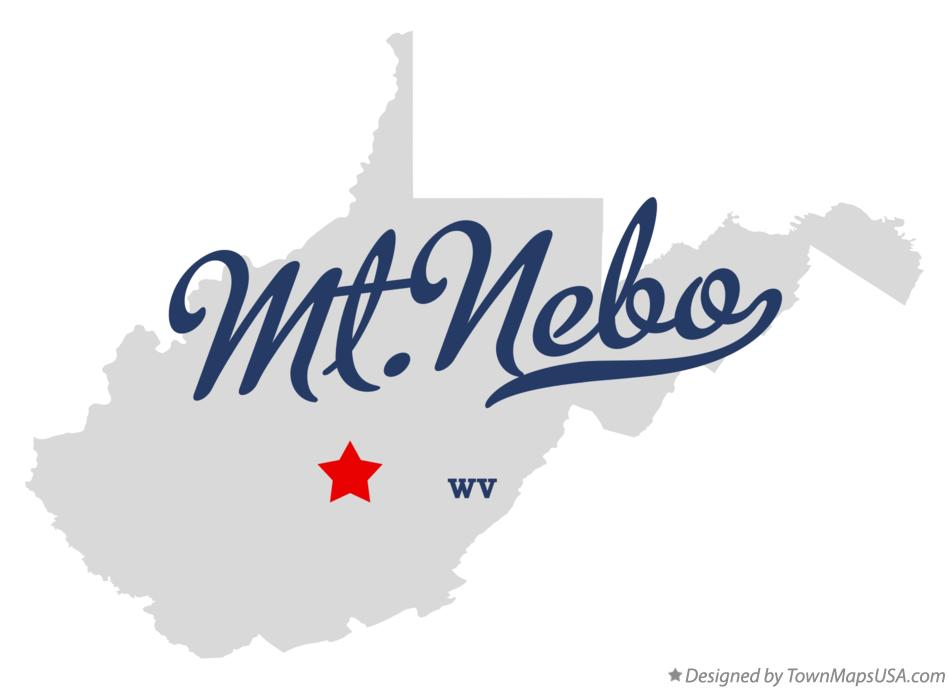 Map of Mt.Nebo West Virginia WV