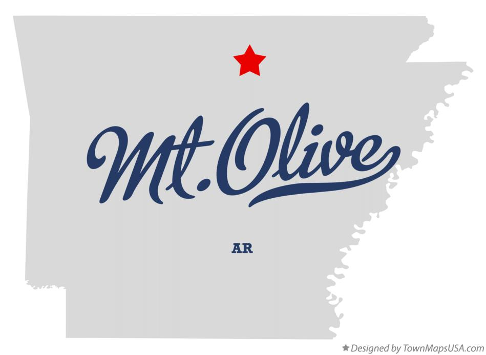 Map of Mt.Olive Arkansas AR