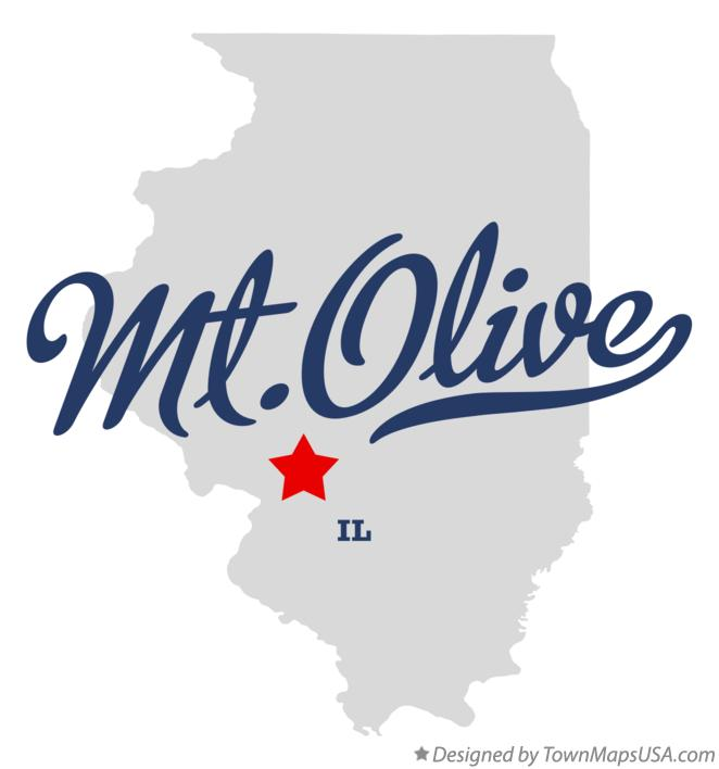Map of Mt.Olive Illinois IL