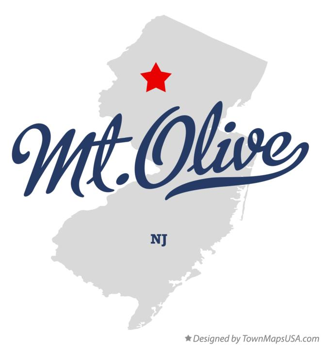 Map of Mt.Olive New Jersey NJ