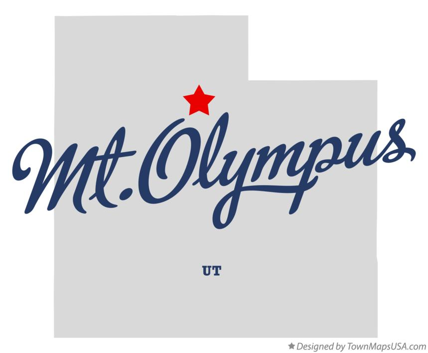 Map of Mt.Olympus Utah UT
