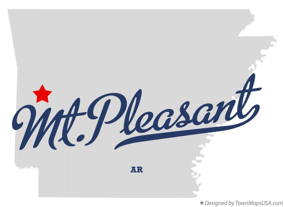 Map of Mt.Pleasant Arkansas AR