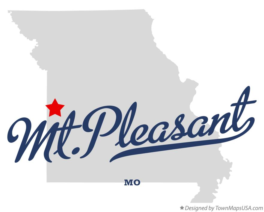 Map of Mt.Pleasant Missouri MO