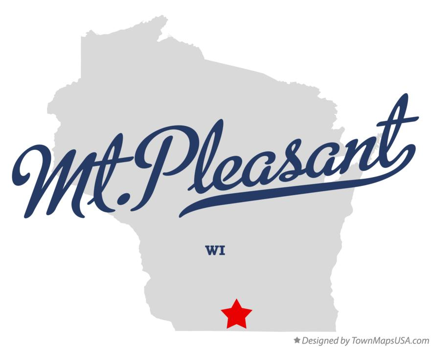 Map of Mt.Pleasant Wisconsin WI