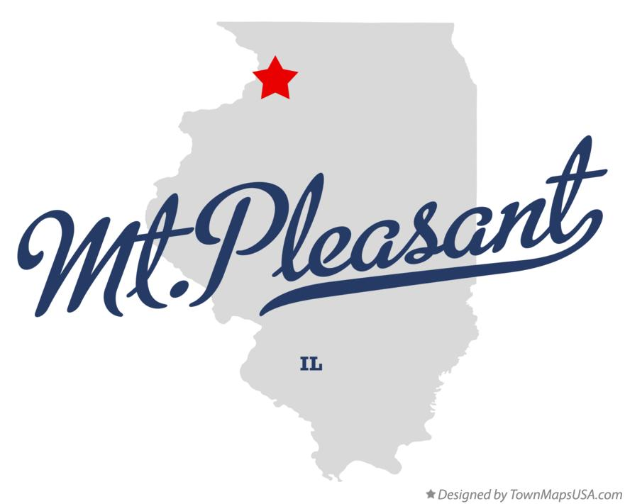 Map of Mt.Pleasant Illinois IL