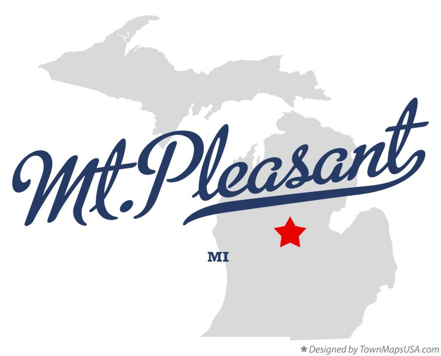 Map of Mt.Pleasant Michigan MI