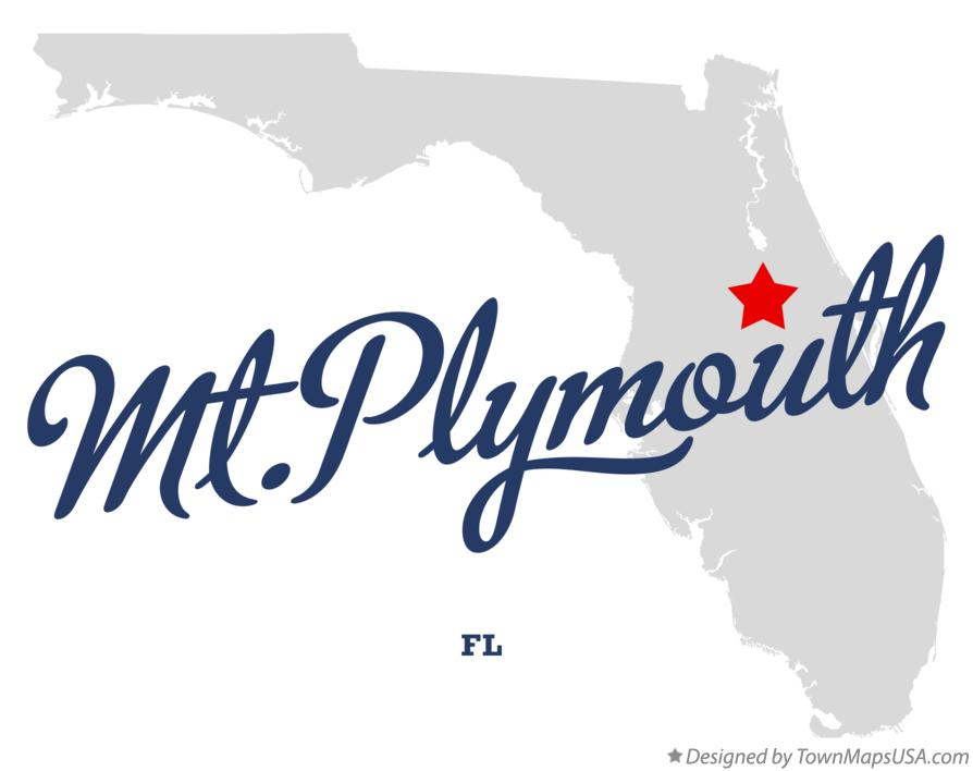 Map of Mt.Plymouth Florida FL