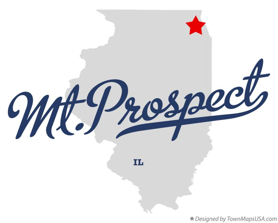Map of Mt.Prospect Illinois IL
