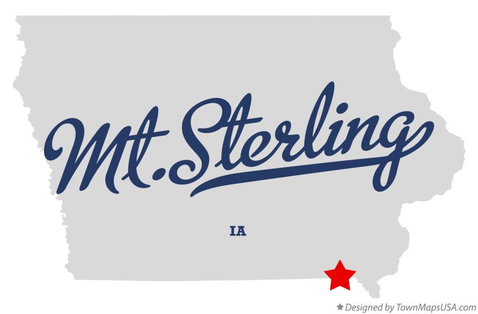 Map of Mt.Sterling Iowa IA