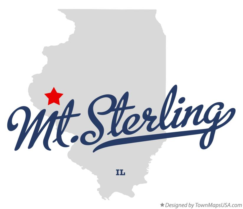 Map Of Mt Sterling Il Illinois