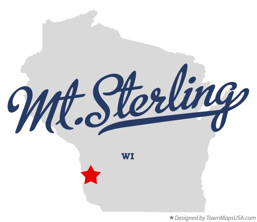 Map of Mt.Sterling Wisconsin WI