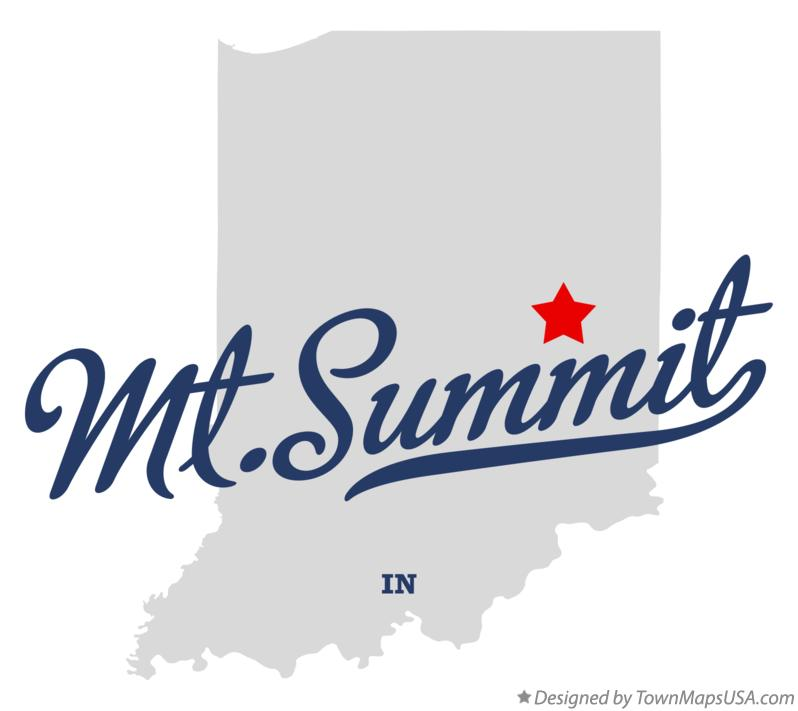 Map of Mt.Summit Indiana IN