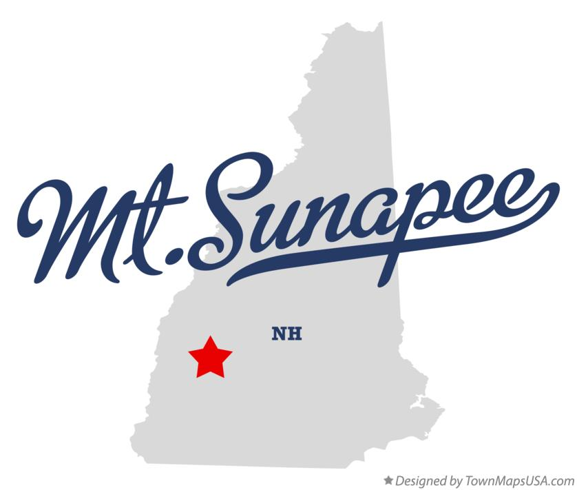 Map of Mt.Sunapee New Hampshire NH