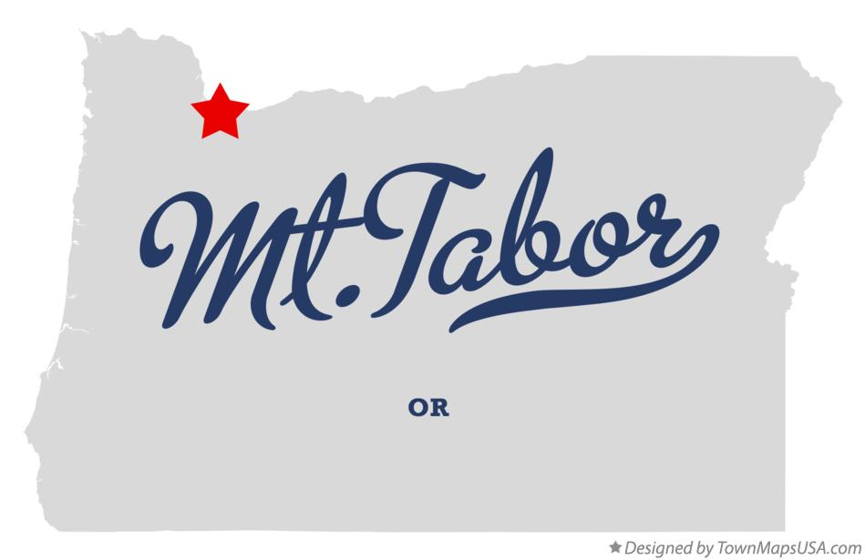 Map of Mt.Tabor Oregon OR