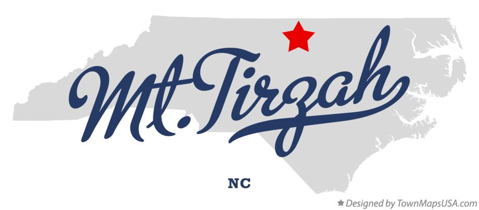 Map of Mt.Tirzah North Carolina NC