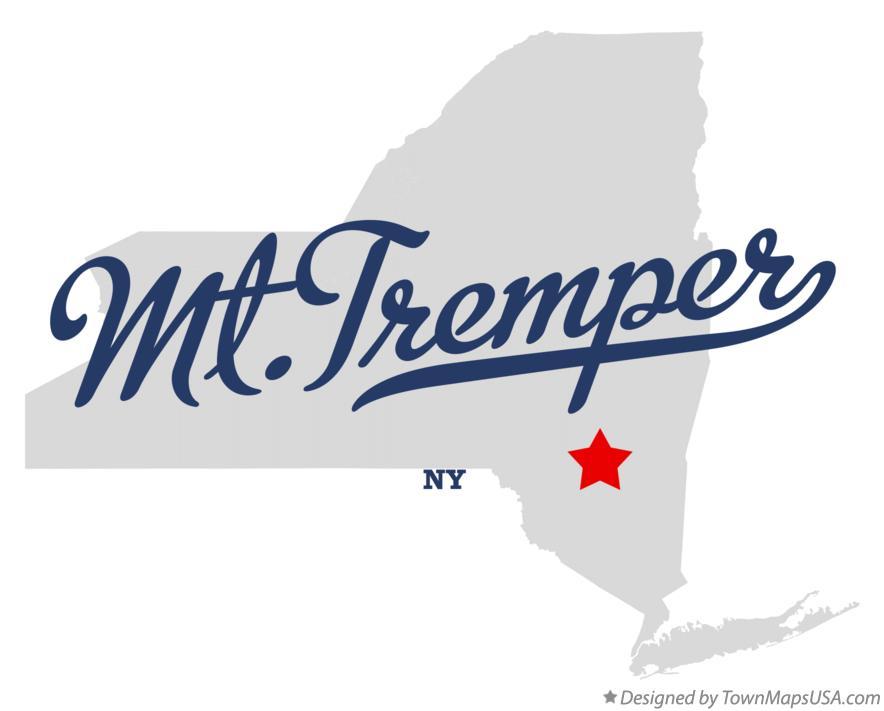 Map of Mt.Tremper New York NY