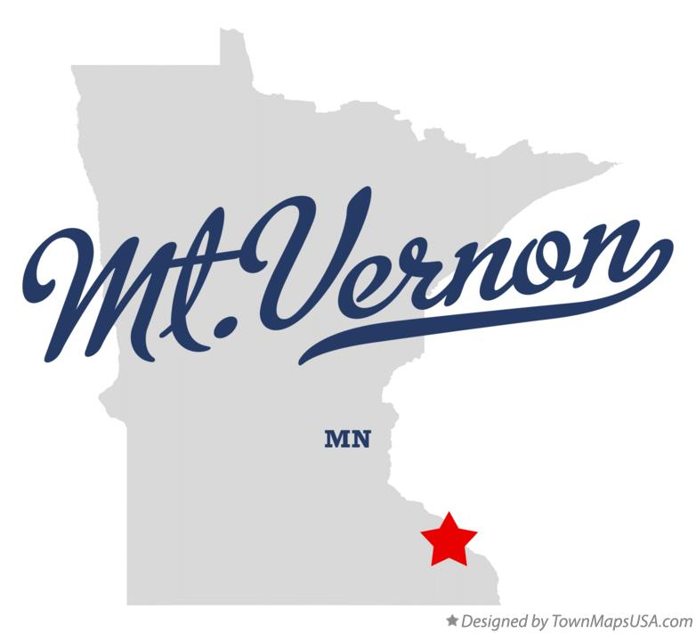 Map of Mt.Vernon Minnesota MN