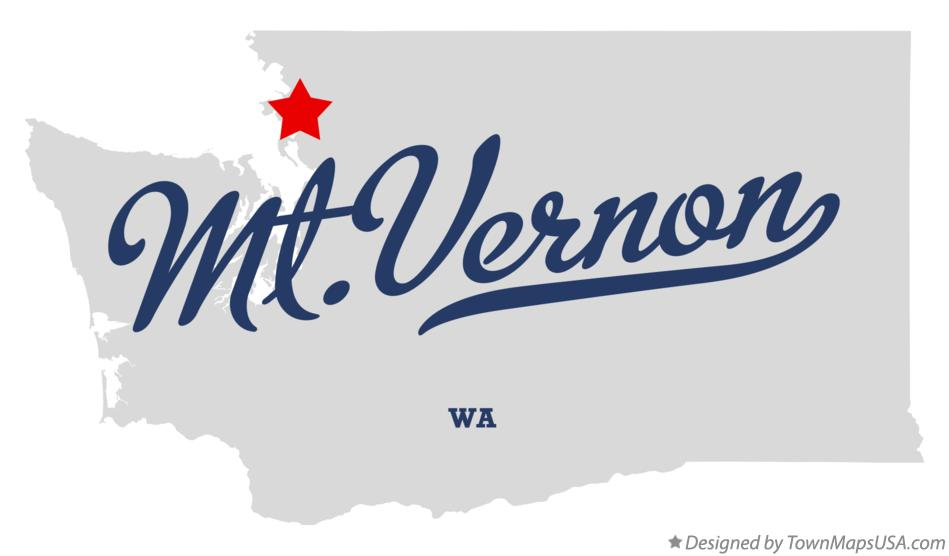 Map of Mt.Vernon Washington WA