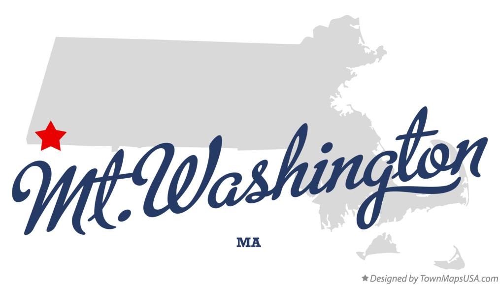 Map of Mt.Washington Massachusetts MA