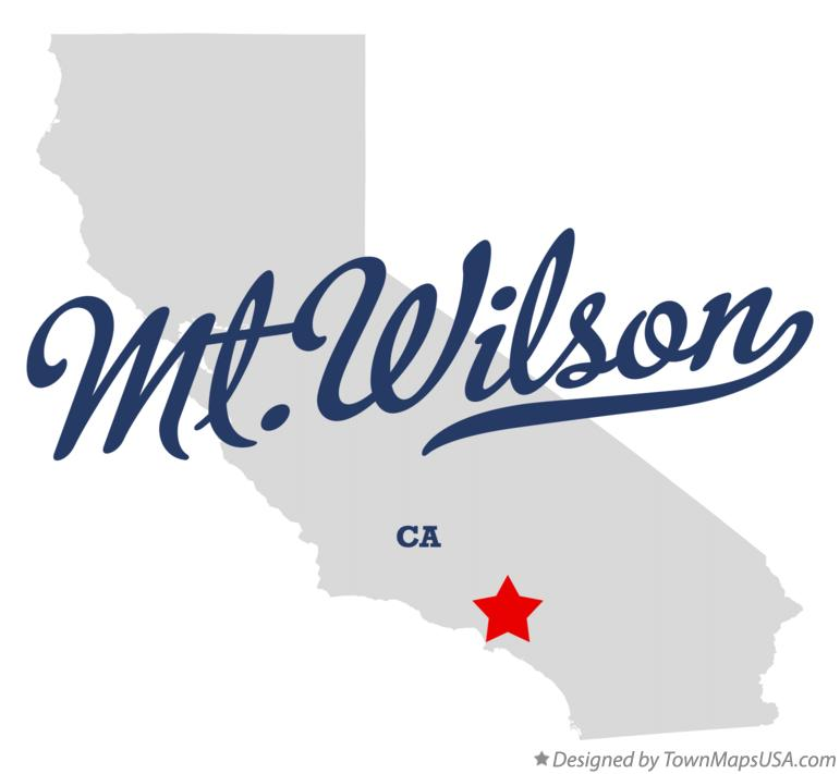 Map of Mt.Wilson California CA
