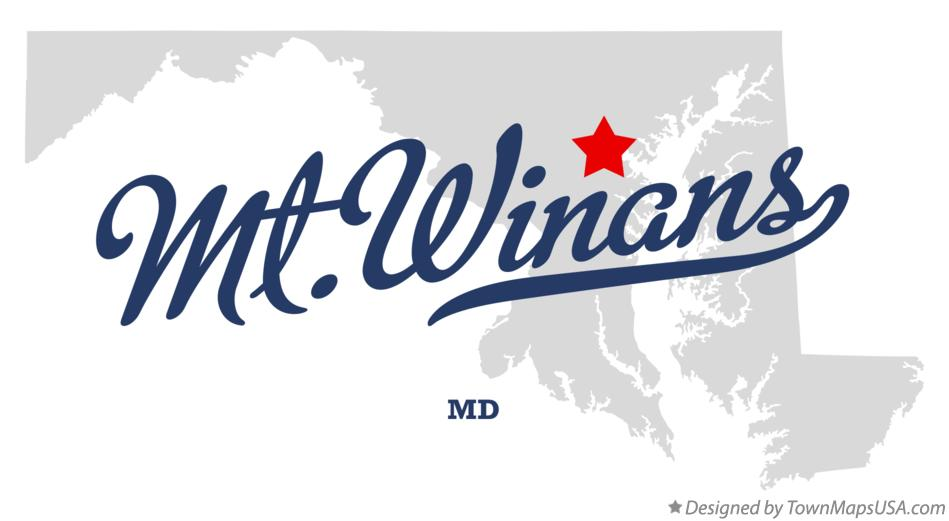 Map of Mt.Winans Maryland MD
