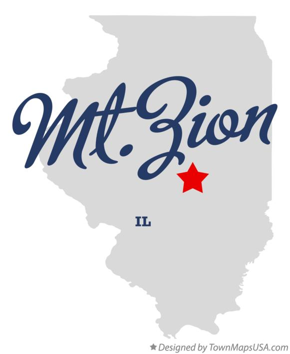 Map of Mt.Zion Illinois IL