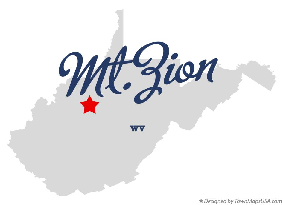 Map of Mt.Zion West Virginia WV