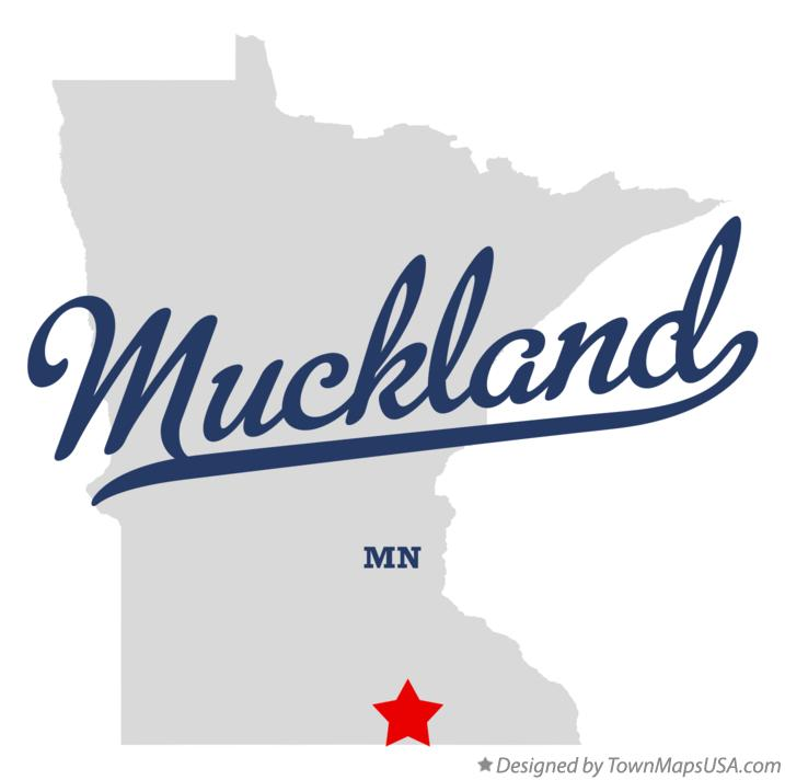 Map of Muckland Minnesota MN