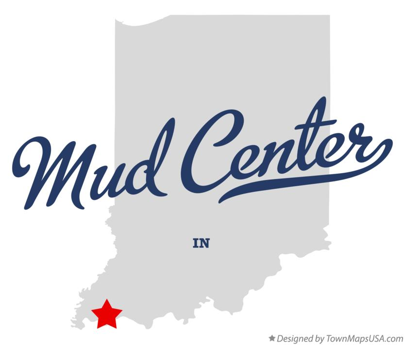Map of Mud Center Indiana IN
