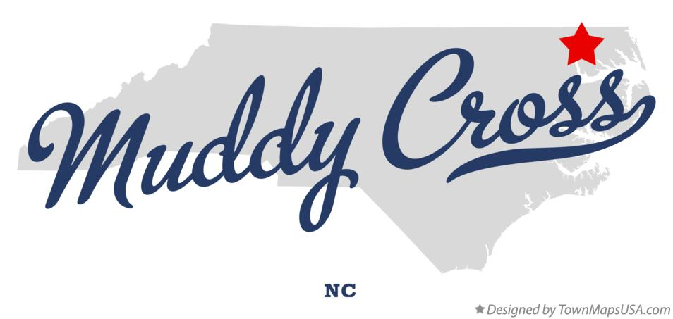 Map of Muddy Cross North Carolina NC