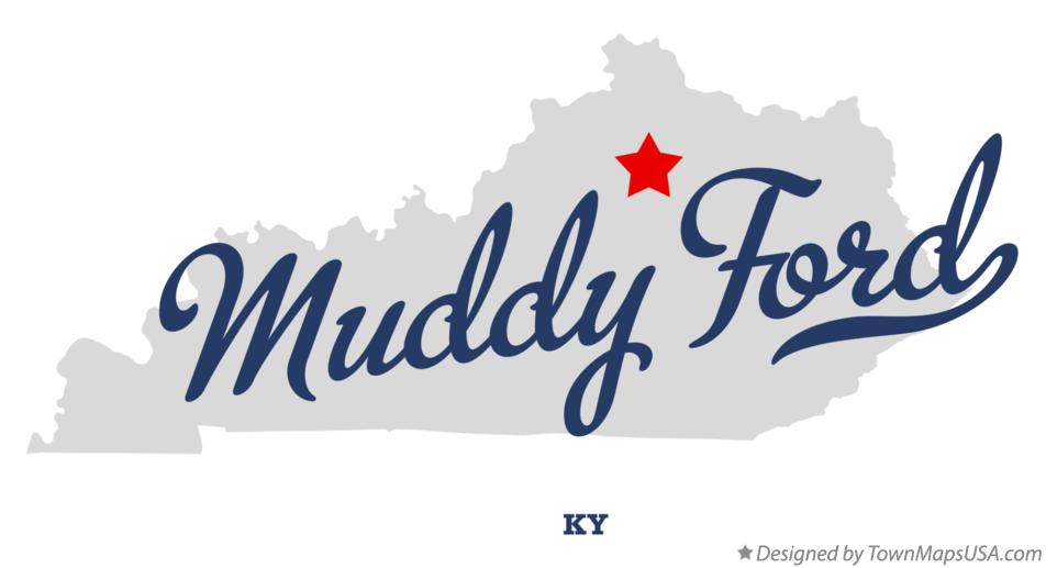 Map of Muddy Ford Kentucky KY