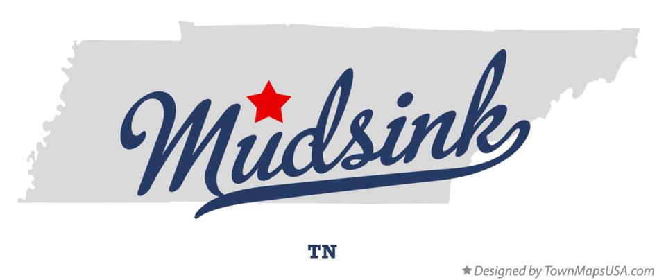 Map of Mudsink Tennessee TN