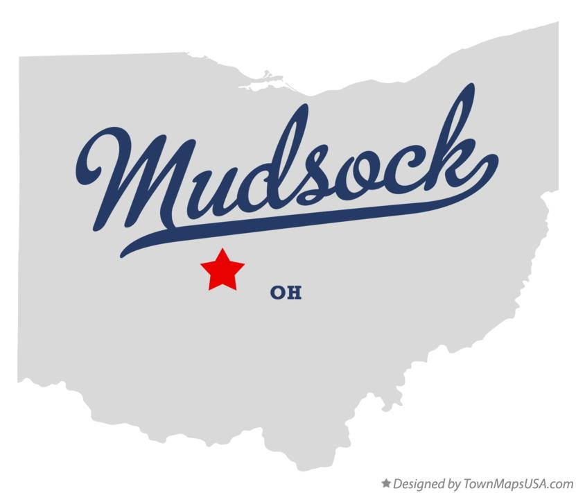 Map of Mudsock Ohio OH