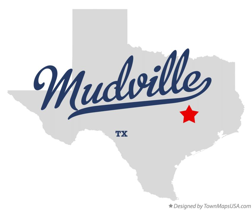 Map of Mudville Texas TX