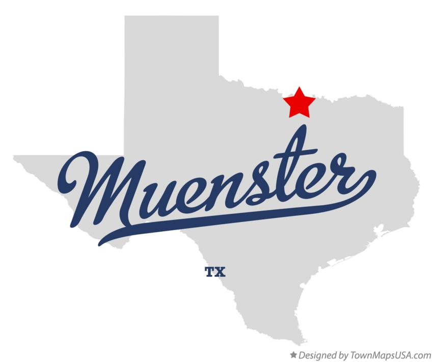 Map of Muenster Texas TX