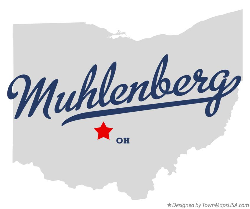 Map of Muhlenberg Ohio OH