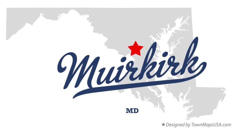 Map of Muirkirk Maryland MD