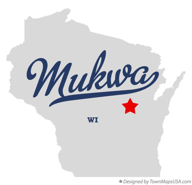 Map of Mukwa Wisconsin WI