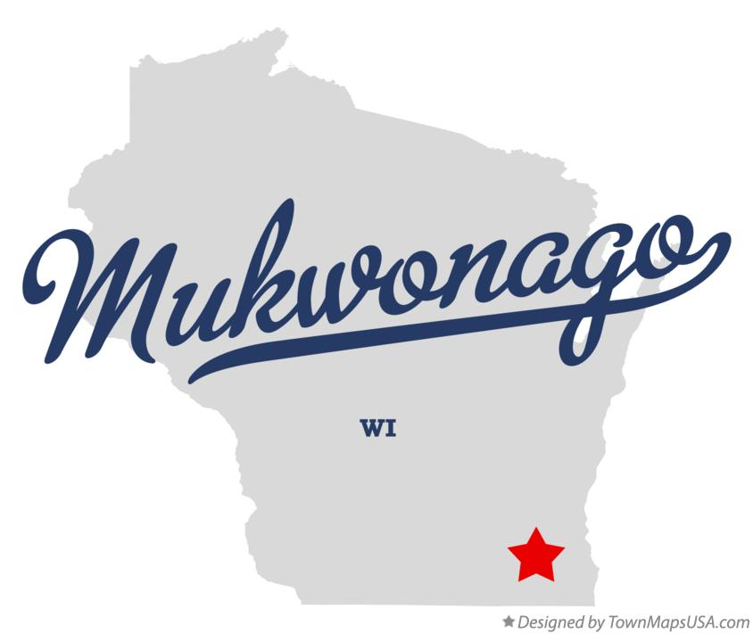 Map of Mukwonago Wisconsin WI