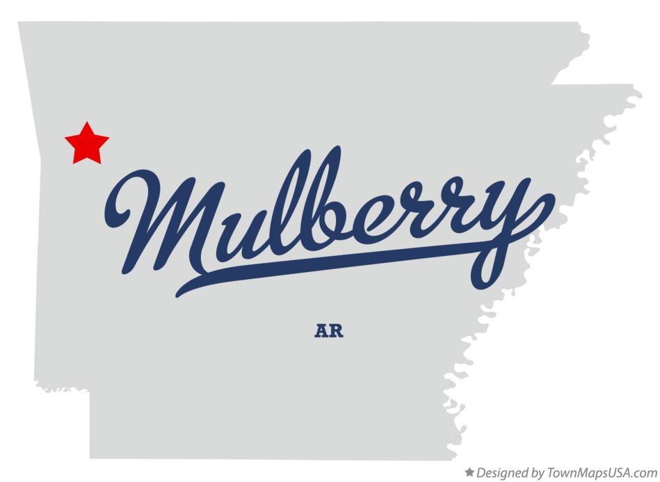 Map of Mulberry Arkansas AR