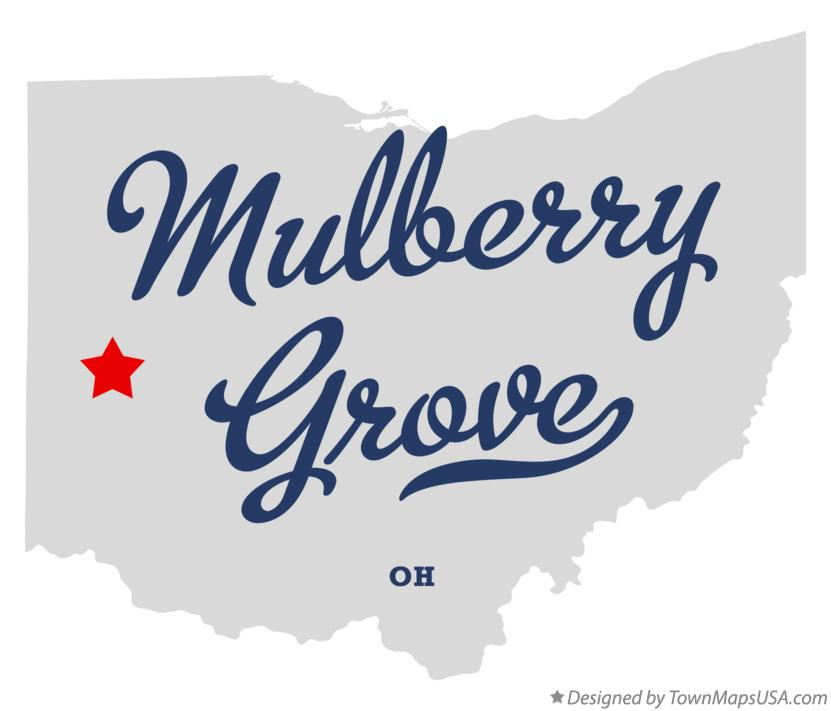 Map of Mulberry Grove Ohio OH