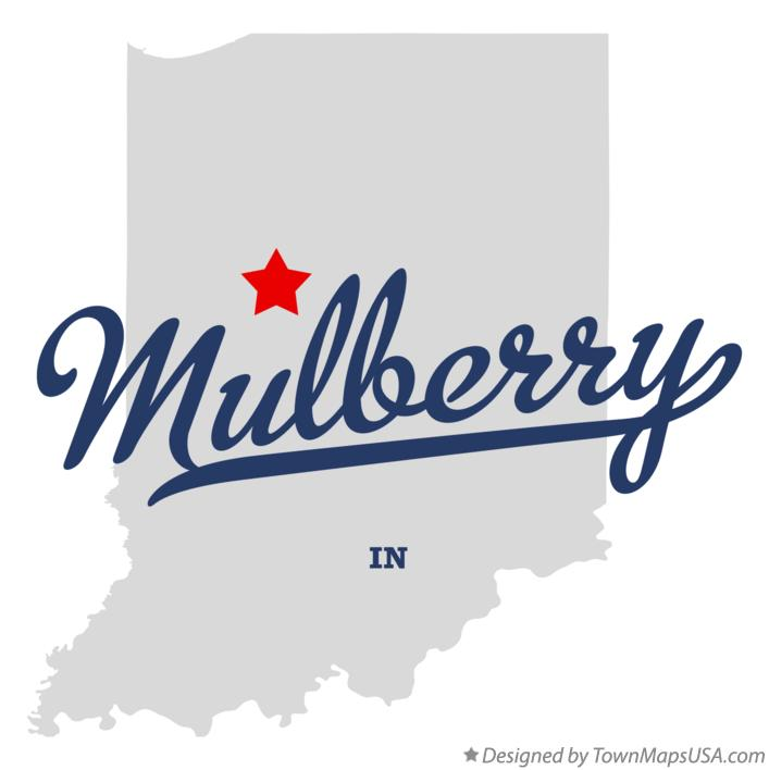 Map of Mulberry Indiana IN