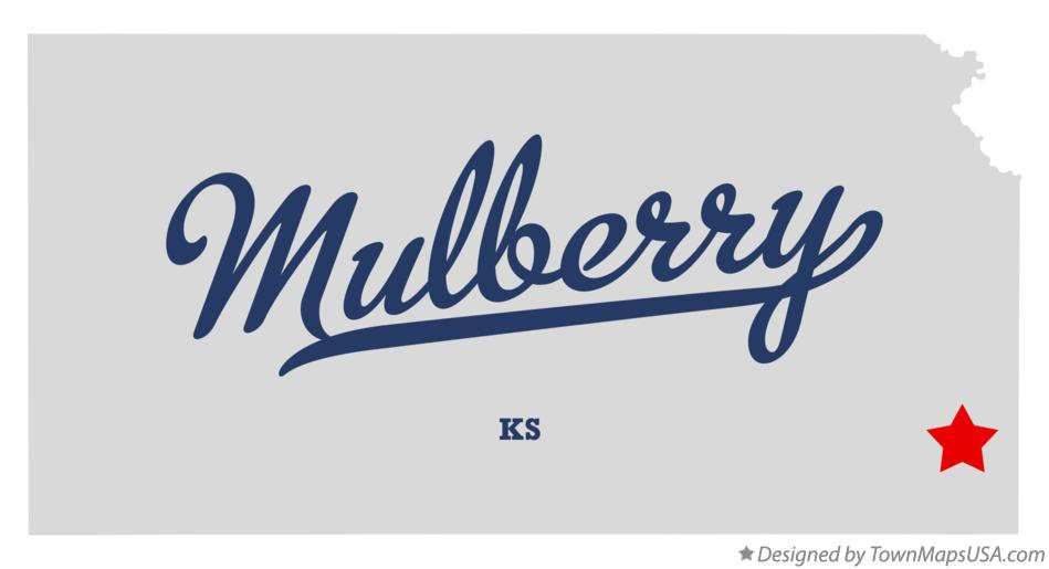 Map of Mulberry Kansas KS