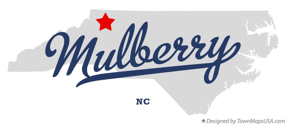 Map of Mulberry North Carolina NC
